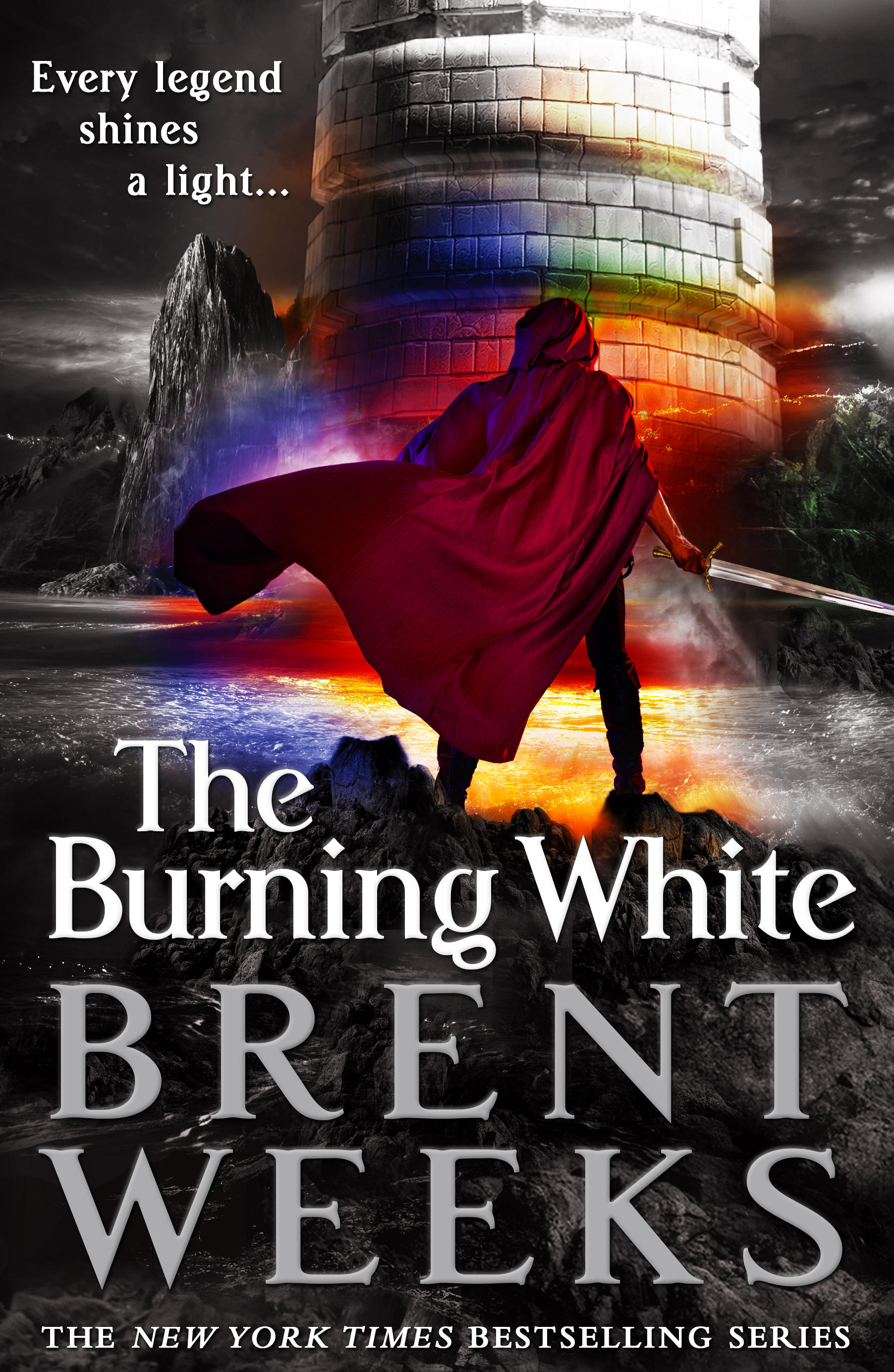 The cover image to The Burning White by Brent Weeks